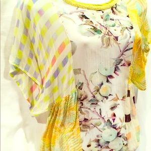 Anthropologie Blank London lemon grove top